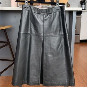 100% genuine leather skirt